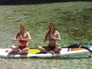 Namaskar Hands on Paddle Board