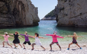 Beach Yoga, Vis, Croatia