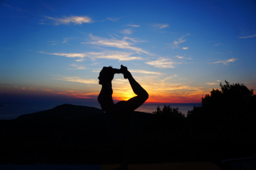 Yoga in a Mountaintop in Croatia